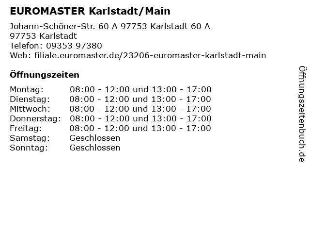 EUROMASTER Karlstadt/Main in Karlstadt: Adresse und Öffnungszeiten