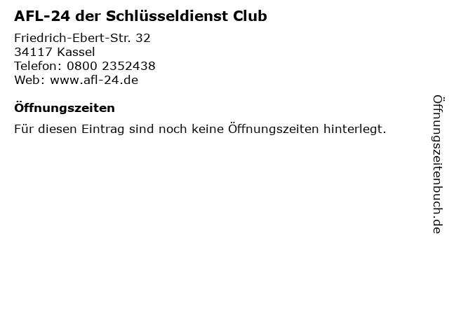 AFL-24 der Schlüsseldienst Club in Kassel: Adresse und Öffnungszeiten