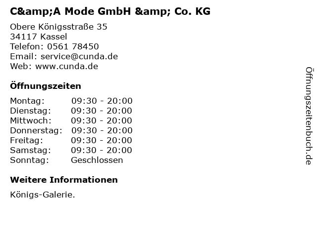 C&A Mode GmbH & Co. KG in Kassel: Adresse und Öffnungszeiten
