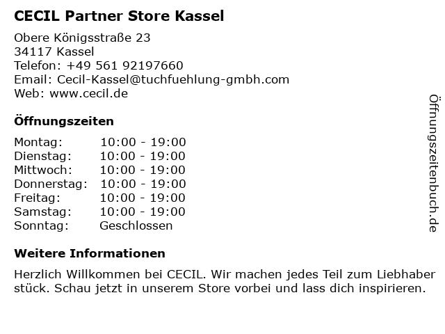 CECIL Partner Store Kassel in Kassel: Adresse und Öffnungszeiten