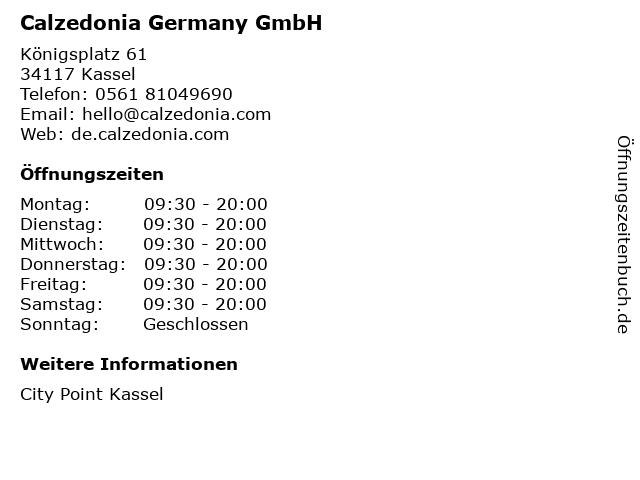 Calzedonia Germany GmbH in Kassel: Adresse und Öffnungszeiten