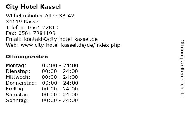 City Hotel Kassel in Kassel: Adresse und Öffnungszeiten