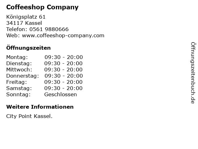 Coffeeshop Company in Kassel: Adresse und Öffnungszeiten