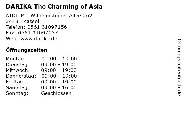 DARIKA The Charming of Asia in Kassel: Adresse und Öffnungszeiten