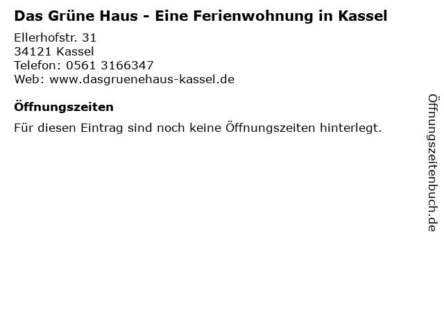 Das Grüne Haus - Eine Ferienwohnung in Kassel in Kassel: Adresse und Öffnungszeiten