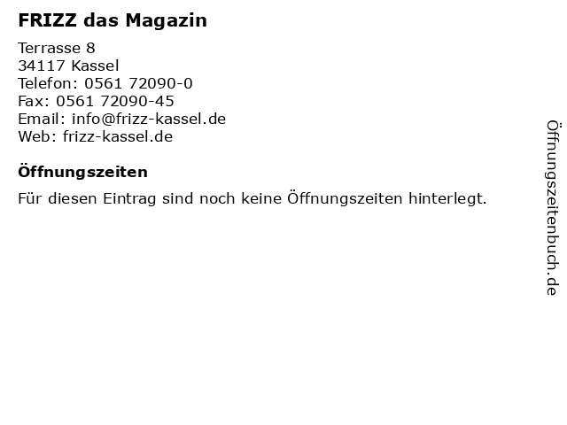 FRIZZ das Magazin in Kassel: Adresse und Öffnungszeiten