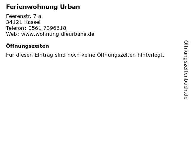 Ferienwohnung Urban in Kassel: Adresse und Öffnungszeiten