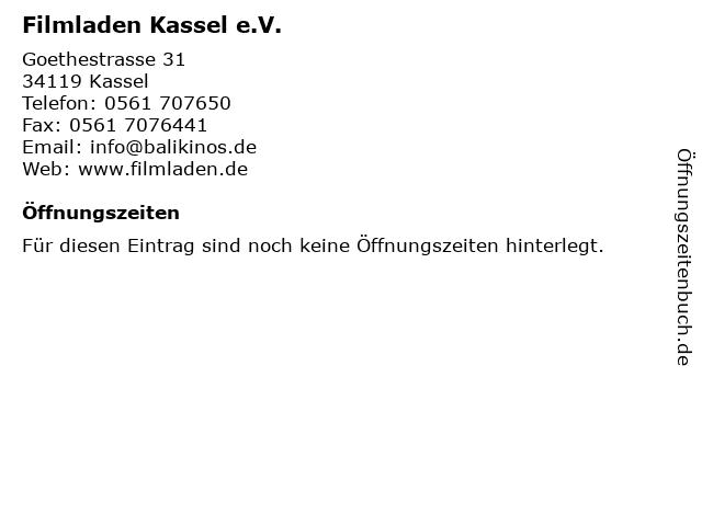 Filmladen Kassel e.V. in Kassel: Adresse und Öffnungszeiten