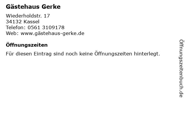 Gästehaus Gerke in Kassel: Adresse und Öffnungszeiten