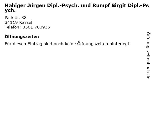 Habiger Jürgen Dipl.-Psych. und Rumpf Birgit Dipl.-Psych. in Kassel: Adresse und Öffnungszeiten