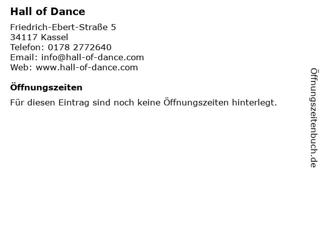 Hall of Dance in Kassel: Adresse und Öffnungszeiten