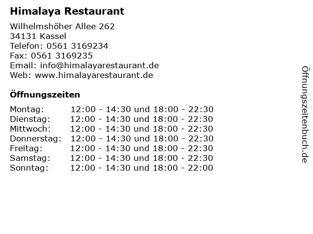 Himalaya Restaurant in Kassel: Adresse und Öffnungszeiten