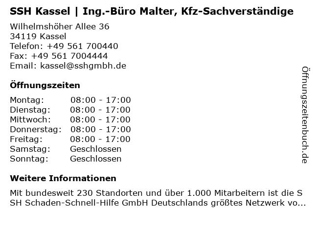KFZ-Sachverständigenbüro Eull & Malter in Kassel: Adresse und Öffnungszeiten