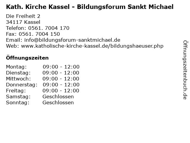 Kath. Kirche Kassel - Bildungsforum Sankt Michael in Kassel: Adresse und Öffnungszeiten