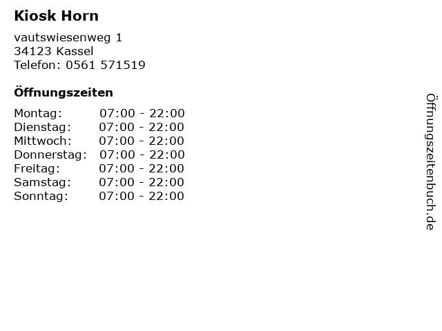Kiosk Horn in Kassel: Adresse und Öffnungszeiten