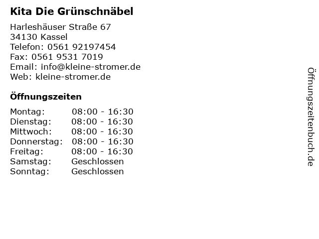 Kita Die Grünschnäbel in Kassel: Adresse und Öffnungszeiten