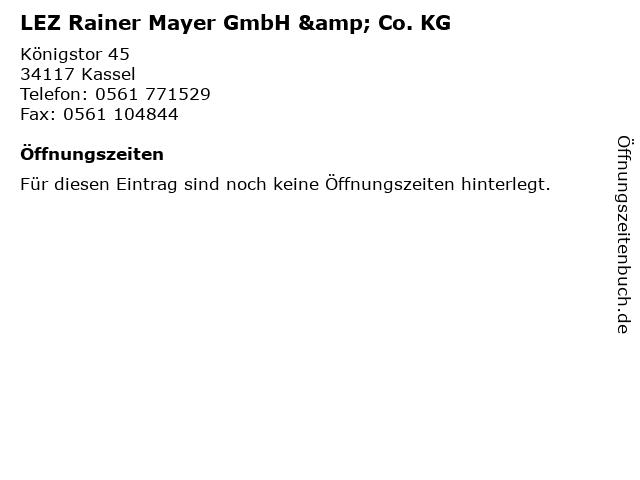 LEZ Rainer Mayer GmbH & Co. KG in Kassel: Adresse und Öffnungszeiten