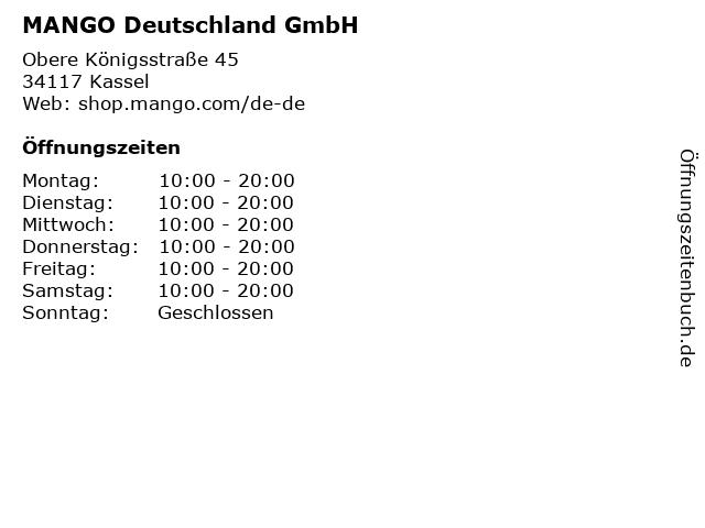 MANGO Deutschland GmbH in Kassel: Adresse und Öffnungszeiten
