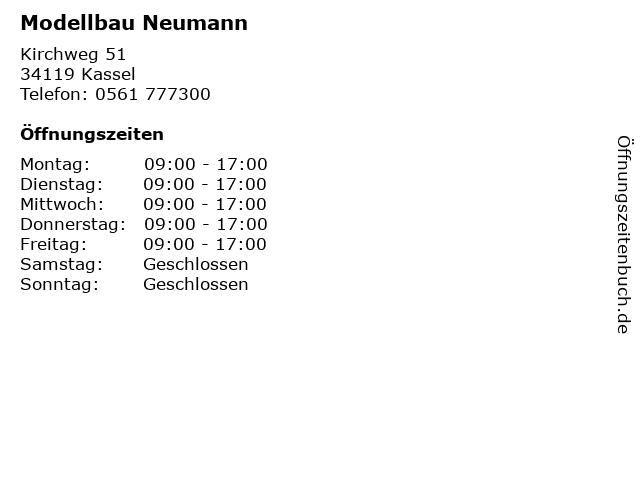 Modellbau Neumann in Kassel: Adresse und Öffnungszeiten
