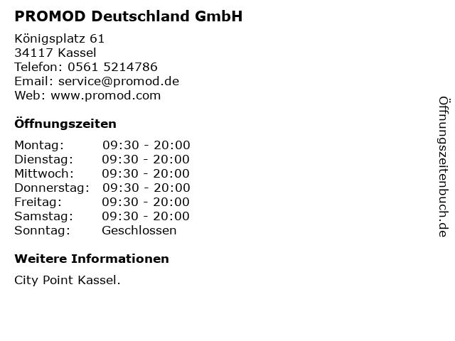 PROMOD Deutschland GmbH in Kassel: Adresse und Öffnungszeiten