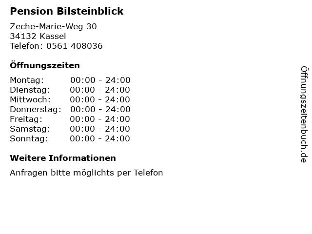 Pension Bilsteinblick in Kassel: Adresse und Öffnungszeiten