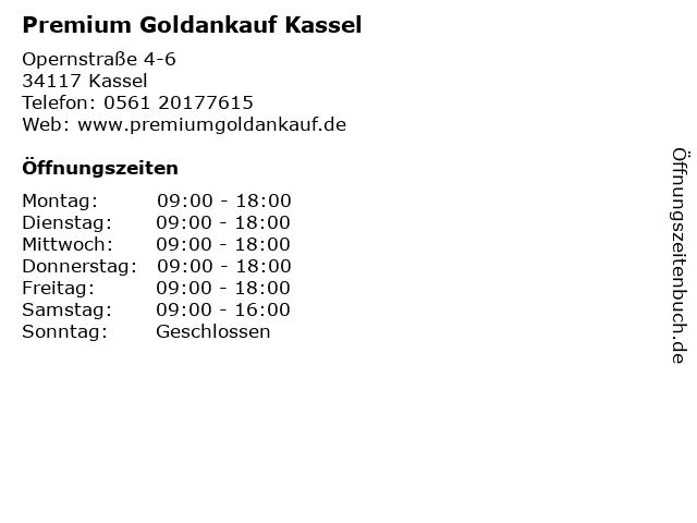 Premium Goldankauf Kassel in Kassel: Adresse und Öffnungszeiten