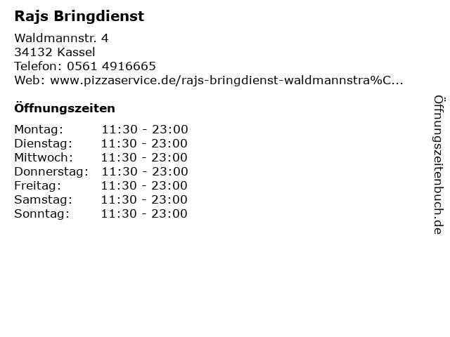 Rajs Bringdienst in Kassel: Adresse und Öffnungszeiten
