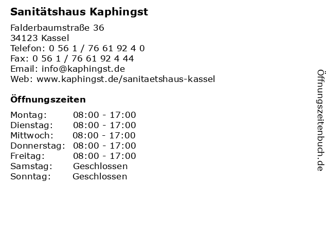 a6db5f3ab23a0d Sanitätshaus Kaphingst in Kassel  Adresse und Öffnungszeiten