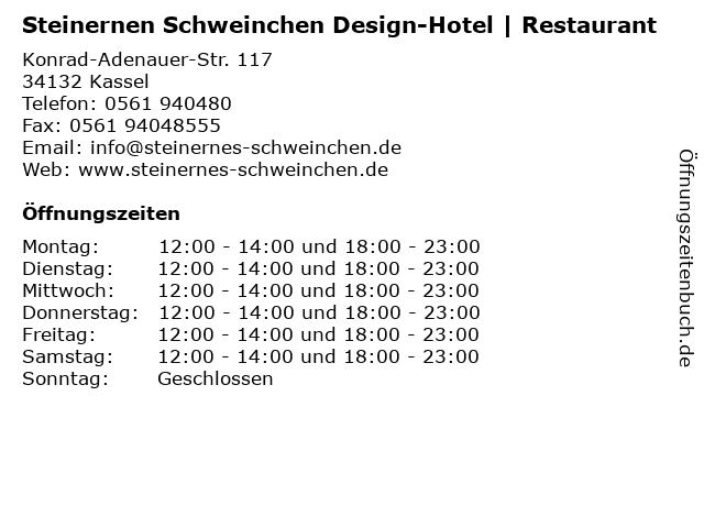 Steinernen Schweinchen Design-Hotel | Restaurant in Kassel: Adresse und Öffnungszeiten