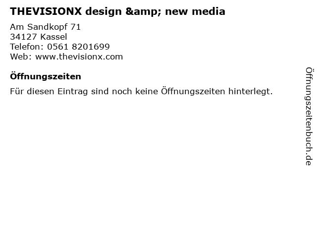 THEVISIONX design & new media in Kassel: Adresse und Öffnungszeiten