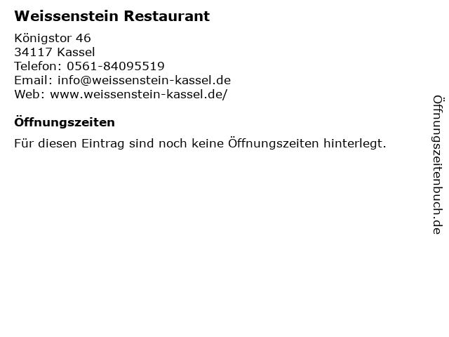 Weissenstein Restaurant in Kassel: Adresse und Öffnungszeiten