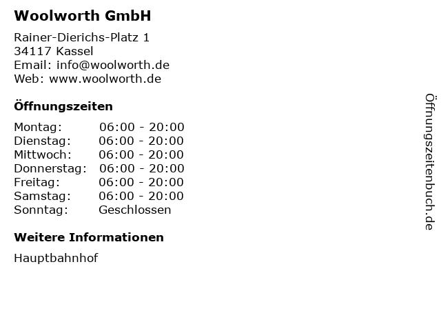 Woolworth GmbH in Kassel: Adresse und Öffnungszeiten
