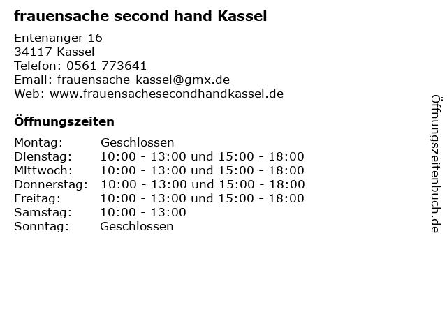 frauensache - second hand boutique Kassel in Kassel: Adresse und Öffnungszeiten