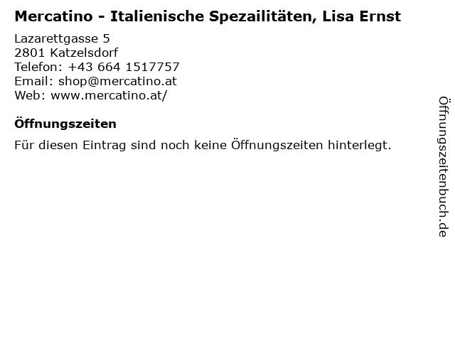 Mercatino - Italienische Spezailitäten, Lisa Ernst in Katzelsdorf: Adresse und Öffnungszeiten