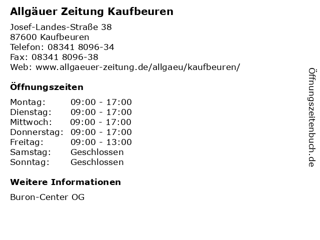 ismerősök kaufbeuren allgäuer újság