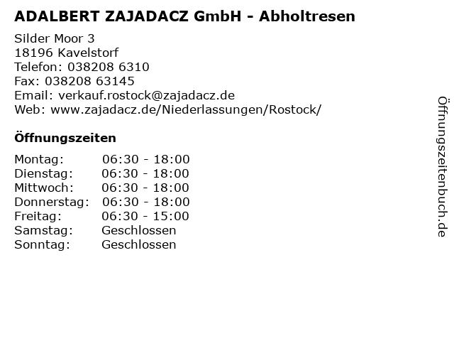 ADALBERT ZAJADACZ GmbH - Abholtresen in Kavelstorf: Adresse und Öffnungszeiten
