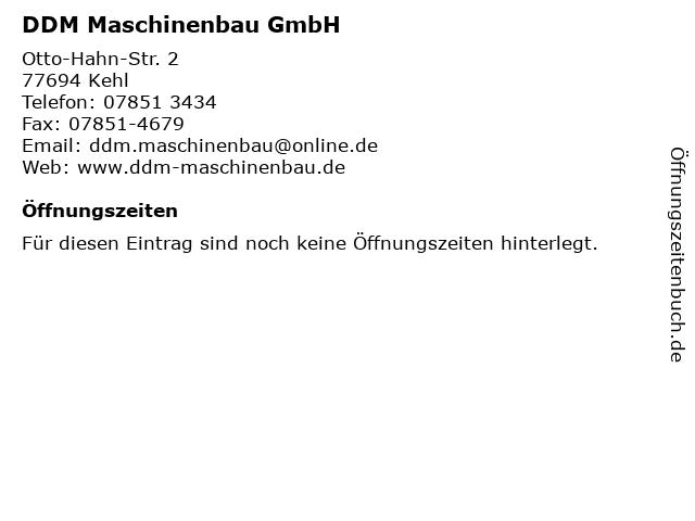 DDM Maschinenbau GmbH in Kehl: Adresse und Öffnungszeiten