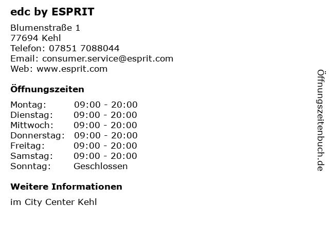 edc by ESPRIT in Kehl: Adresse und Öffnungszeiten