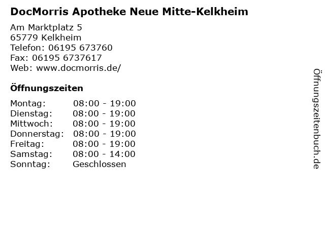 DocMorris Apotheke Neue Mitte-Kelkheim in Kelkheim: Adresse und Öffnungszeiten