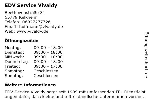 EDV Service Vivaldy in Kelkheim: Adresse und Öffnungszeiten
