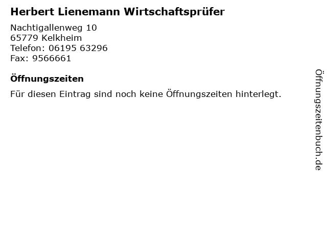Herbert Lienemann Wirtschaftsprüfer in Kelkheim: Adresse und Öffnungszeiten