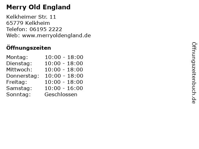 Merry Old England in Kelkheim: Adresse und Öffnungszeiten