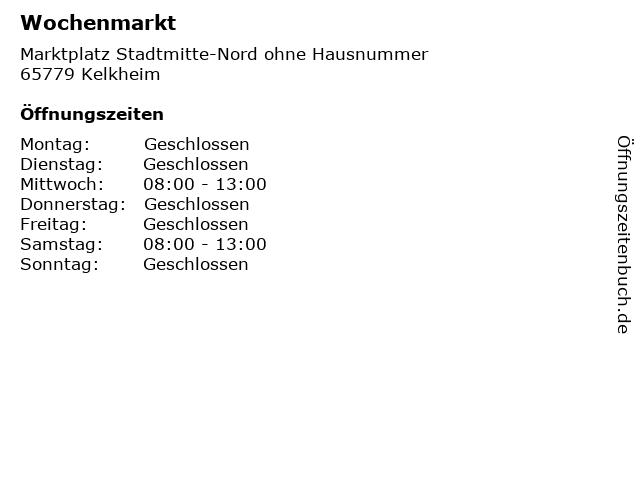 Wochenmarkt in Kelkheim: Adresse und Öffnungszeiten