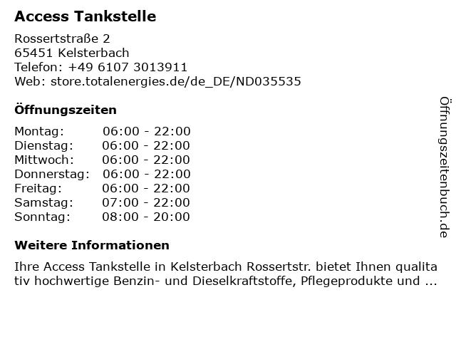 Access Tankstelle in Kelsterbach: Adresse und Öffnungszeiten