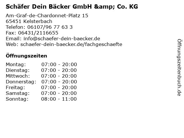 Schäfer Dein Bäcker GmbH & Co. KG in Kelsterbach: Adresse und Öffnungszeiten