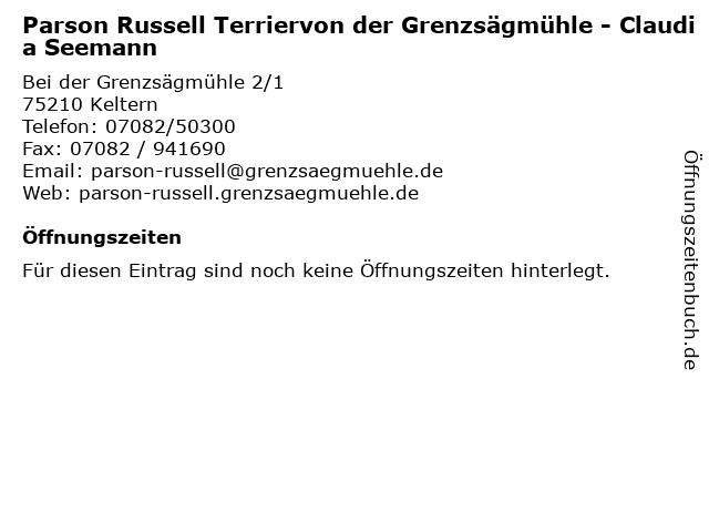 Á… Offnungszeiten Parson Russell Terriervon Der Grenzsagmuhle Claudia Seemann Bei Der Grenzsagmuhle 2 1 In Keltern