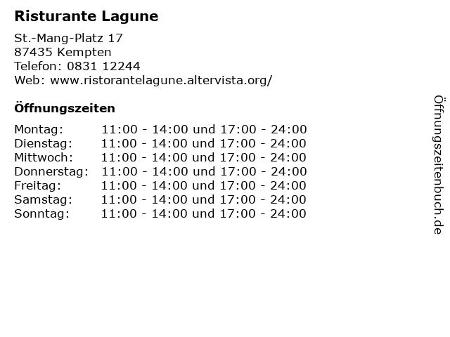 Risturante Lagune in Kempten: Adresse und Öffnungszeiten