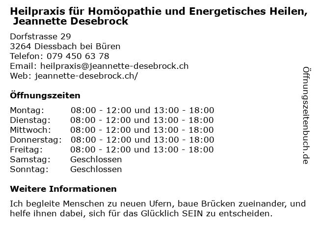 Seeland Praxis Miasmatische Homöopathie in Kerzers: Adresse und Öffnungszeiten