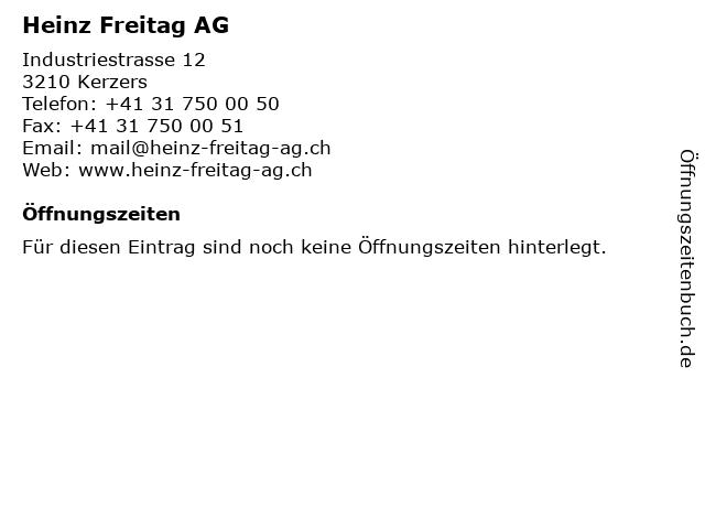 Heinz Freitag AG in Kerzers: Adresse und Öffnungszeiten