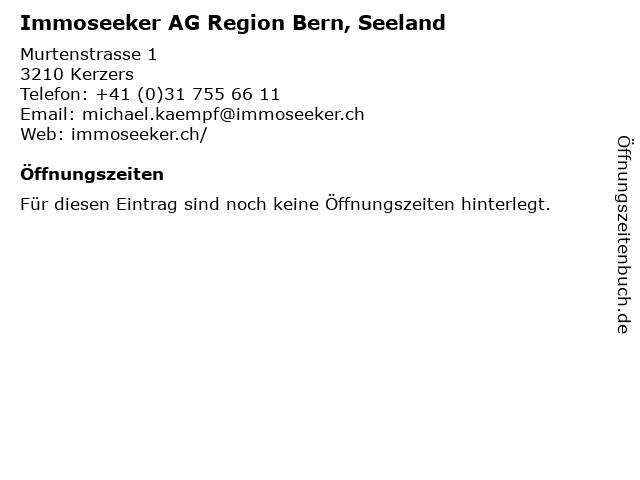 Immoseeker AG Region Bern, Seeland in Kerzers: Adresse und Öffnungszeiten